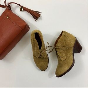 Madewell 1937 Sandstorm Suede Ankle Boots